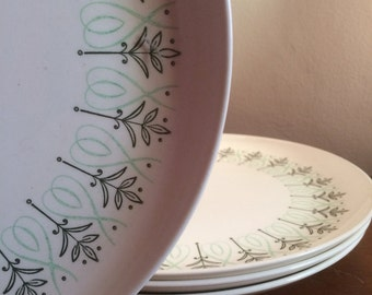 Mid Century Dinner Plates by Harmony House