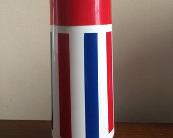 Red White and Blue Striped Thermos by Thermo Serv