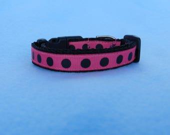 XS Polka Dots Dog Collar