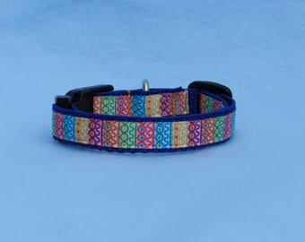 XS Multi-Colored Dog Collar
