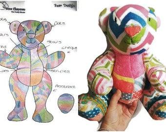 Design a Bear, Create a Bear, Cuddly Bear, Soft Toy, Teddy Bear, Colour Your Cuddle