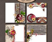 ON SALE Digital Scrapbooking, Quick Pages, Premade Layouts, Romantic Love: Always Yours