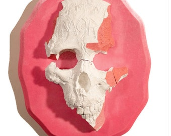 Memento Mori Skull -Original Wall Sculpture