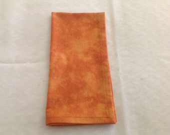 Cloth Napkins in a Tone on Tone Rust Color, Cloth Dinner Napkins, Reusable Cloth Napkins, Sets of 2 or 4