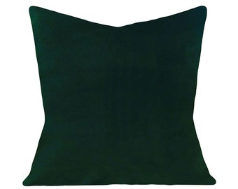 Emerald Green Velvet Decorative Pillow Cover - Throw Pillow - Both Sides - 12x16, 12x20, 14x18, 14x24, 16x16, 18x18, 20x20, 22x22, 24x24