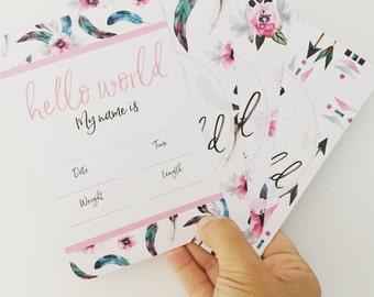 Baby Milestone Cards - BOHO GIRL