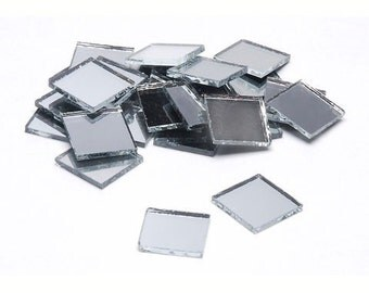"100 Better Crafts Square 1.5"" Mirrors - Can Be Used in Many Craft Projects & Mosaics."