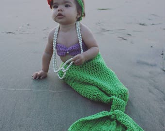 Baby Mermaid Areil Costume set.