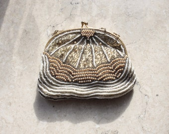 Beaded Evening Bag Vintage Clutch Purse