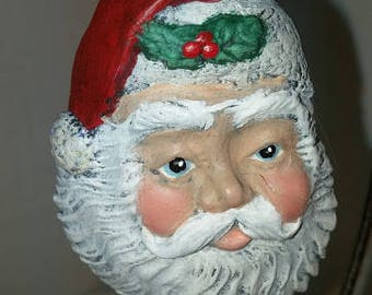 Medium Santa Head Ornament