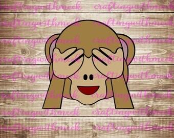See No Evil Monkey Emoji SVG