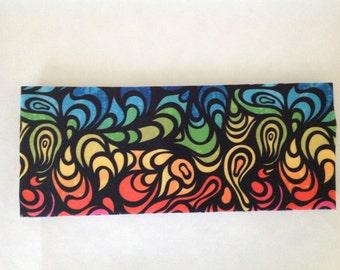 Rainbow Swirls Spandex Headband