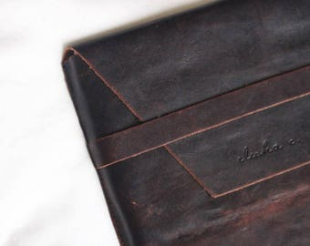 Genuine Leather Copper Brown Vertical Ipad Case