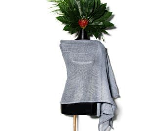 Linen shawl. Blue linen shawl. Linen wrap. Women scarf. Summer scarf. Linen scarf. Natural linen scarf. Linen scarves. Linen. Sprinf shawl