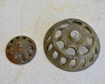 Two Antique Lamp Parts, Architectural Salvage Reclaimed Lighting Supply