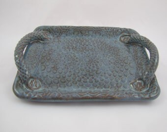 Tray ~ Serving Tray ~ Textured Tray ~ Platter ~ Tray with Handles
