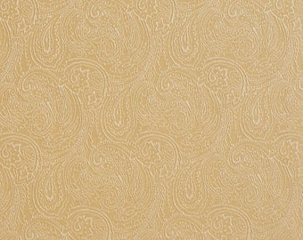 Gold Traditional Paisley Jacquard Woven Upholstery Fabric By The Yard | Pattern # B635