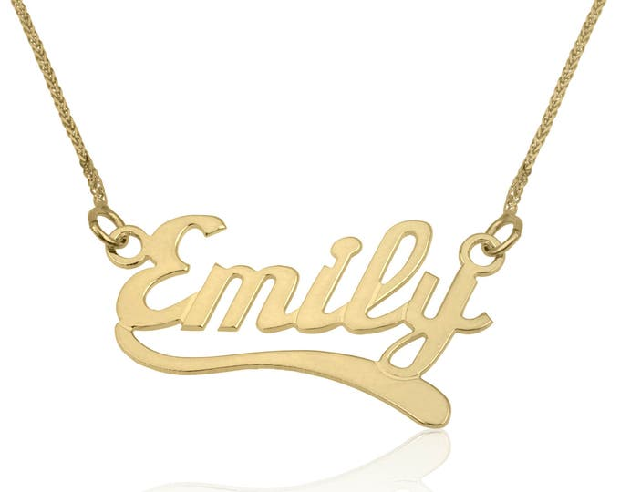 Name necklace-Personalized jewelry-Monogram & Name necklace- Custom Name chain-Memorial gift-Personalized name chain-For her-Graduation gift