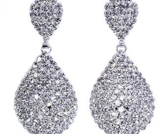 Style # 15074 - Stone Teardrop Earring