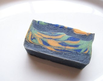 Exotic Aloe + Goats Milk Soap-Midnight Tiger-Uplifting Cherry-Musk Scent-Handmade Soap-Shea + Cocoa Butter Luxury Soap-Charcoal Soap