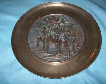 Vintage Metalware  Bronze Plate, WAS 25.00- 50% = 12.50