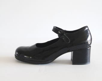 Vintage Black Patent Leather JJ Lester French Made Mary Janes