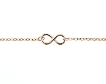 Rose Gold Infinity Anklet