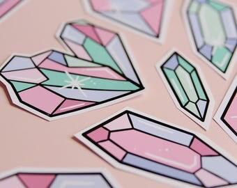 Purple & Green Crystals 3.0 Sticker Pack