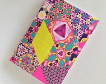 A5 Bespoke digitally printed silk notebook