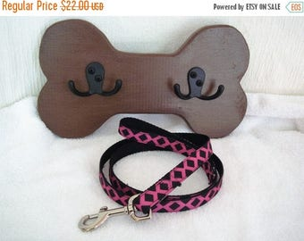 ON SALE Dog Leash Hanger, Dog Leash Hook, Pet Room Decor, Bone Leash Hanger