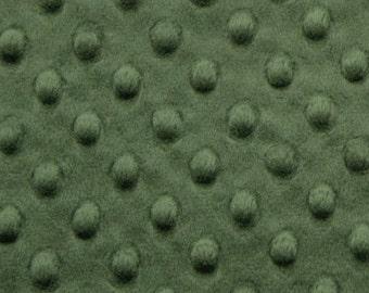 Hunter Green Minky Dot - Shannon Fabrics - Cuddle Dot - Minky by the Yard -1/2 yard- Fat Quarter - Fat Half