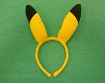 Pikachu Plush Ears-Pokemon Headband-PokemonGo Cosplay Accessories-Pikachu Ears-Pokemon Accessories-Birthday Gift