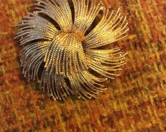 Gold Tone Brooch by Monet