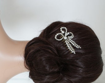 Vintage Hair Comb,  Crystal Wedding hair comb, Bridal Hair Accessory, Bridesmaids hair comb