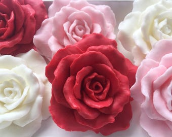 Rose Soap - Handmade Glycerin Soap - Soap Favors - Flower Soap - Mother's Day Gift - Valentines Day Gift - Soap Gift - Gift for Her