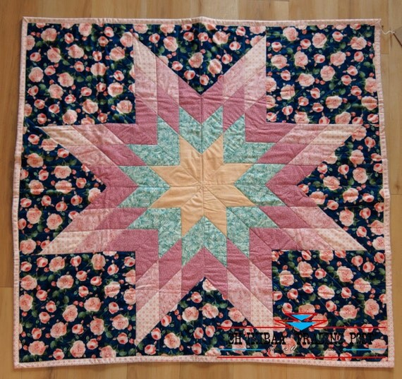 Rose and Green Native American Star Quilt by SommerNani