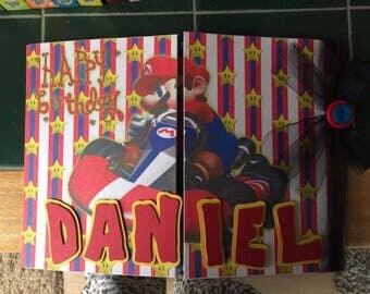 Super Mario Birthday Card, Nintendo card, Mario birthday, mariokart card, birthday boy, boys birthday card, mario card