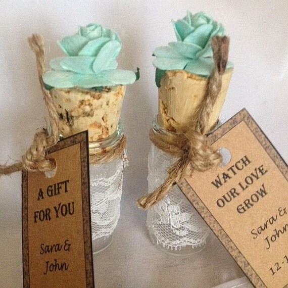 Beach Theme Wedding Photo Albums : Mint wedding favors mints or candy in lace