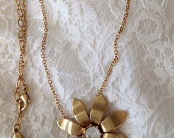 Vintage necklace, flower necklace, vintage jewelry, necklace, handmade,ladies jewelry