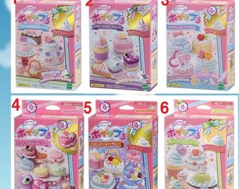2sets discount,Whipple,Japanse Deco Sweets kit,DIY,Fake Sweets,Making toy,GIRL'S gift,Birthday present,Epoch