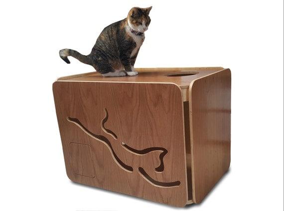 Small cat litter box furniture