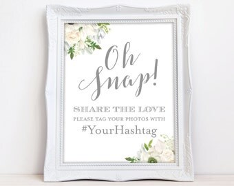 Oh Snap Wedding Sign Share the Love The Grace