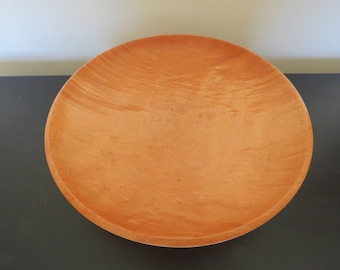 Wooden Birdseye Maple Shallow Serving Bowl