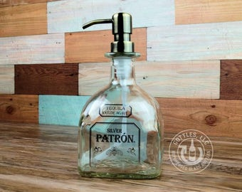 Upcycled Patron Tequila Soap Dispenser