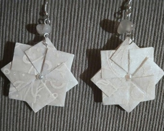 Origami earrings, Diamond