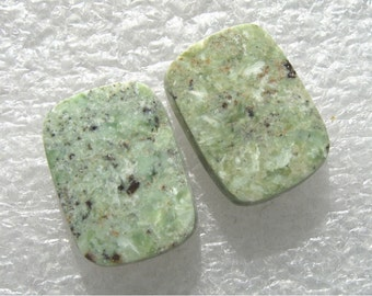 Serpentine speckled cabochons for earrings
