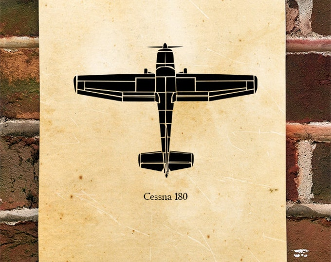 KillerBeeMoto: Limited Print Cessna 180 Skylan Aircraft Print 1 of 100
