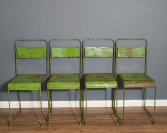 Green Metal chairs