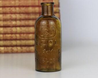 Antique Bottle Azol The Active Developer in Amber
