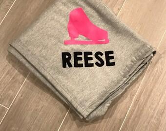 Personalized blanket, sweatshirt blanket, blanket, customized blanket, stadium bkanket, throw blanket, throw,